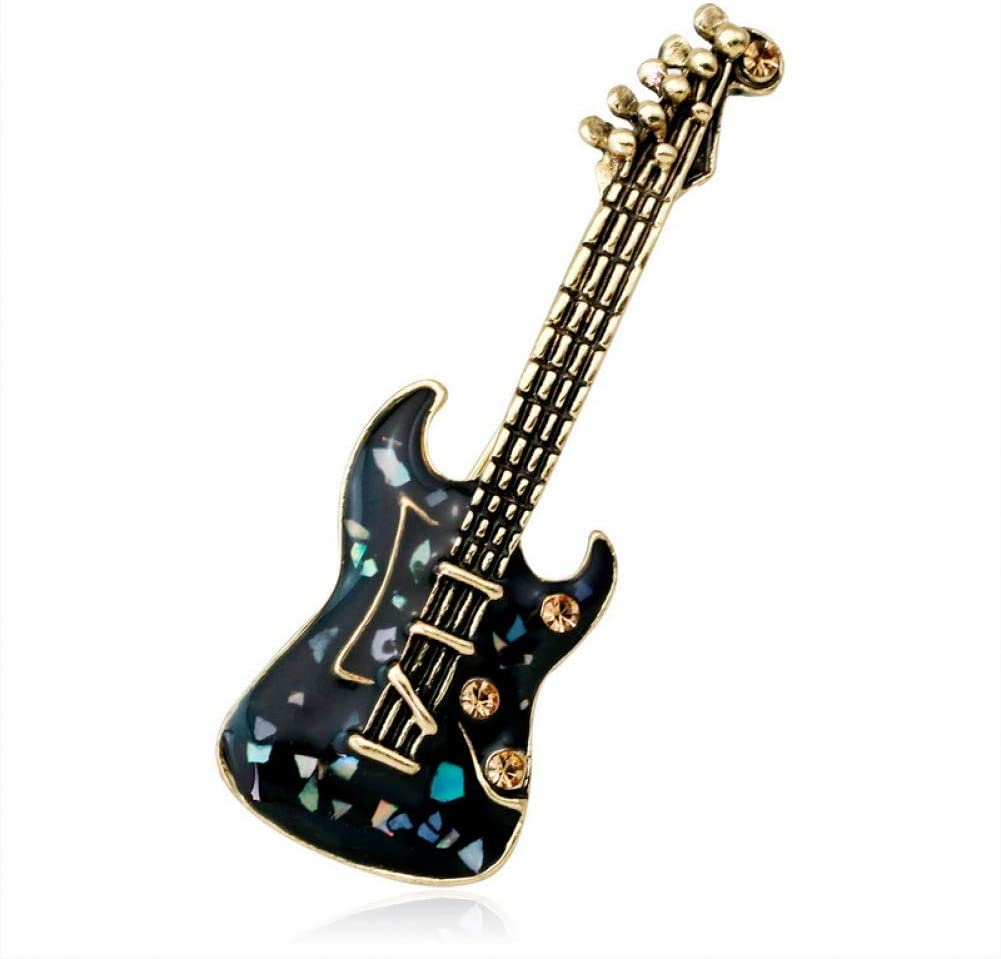 ERDING Broches/Guitarra Violín Verde Piedra Natural Concha Cristal ...