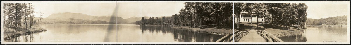 c1911 Toxaway Hotel and surroundings, Lake Toxaway, N.C. 62'' Vintage Panorama ph