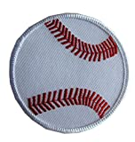 3'' Embroidery Iron On/Sew On Baseball Applique Patch