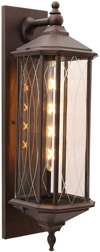 Victorian Style Outdoor Sconce E27 Light Wall Lamp Gate Garden Lighting Fixture