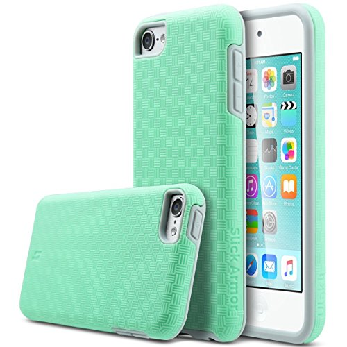 ULAK iPod Touch 6 Case,iPod Touch 5 Case, Slick Armor Slim-Protection Case for Apple iPod Touch 6 5th Generation (Green)