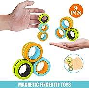 3pcs/6pcs Finger Magnetic Ring, Magnet Toy, Magnetic Fingertip Toys, Decompression Magnetic Magic Ring, Magnet