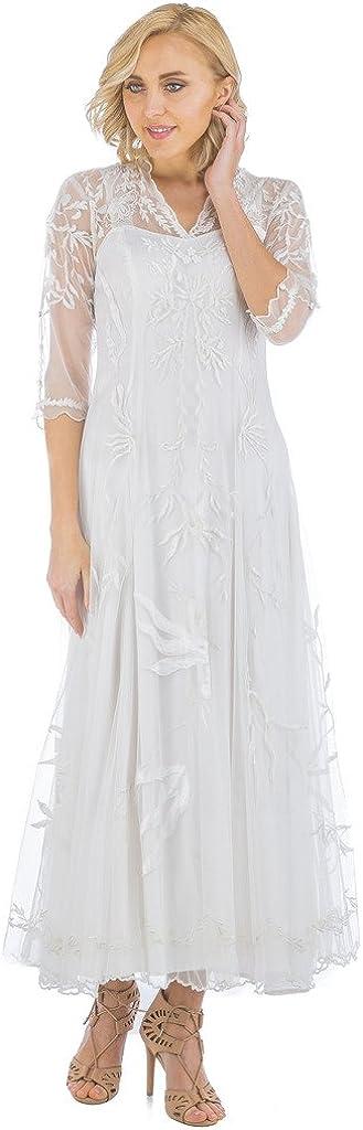 Women's Elizabeth True Romance Vintage Style Wedding Dress in Ivory