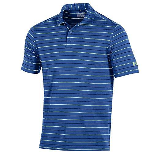 Under Armour New Men's Golf Performance Stripe 2.0 Polo Shirt Mediterrranean 2XL ()