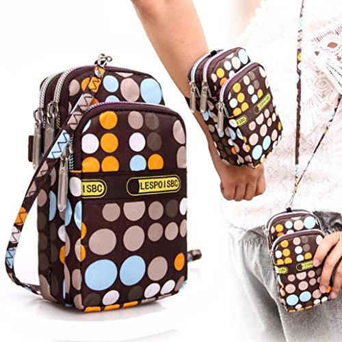 Impresión Monedero G Moda De Cremallera Muñeca bolsas Deporte Zarupeng Mujeres Las La Del Mini q4wSx070O