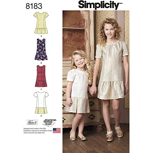 Sewing 3 Patterns - Simplicity Pattern 8183 Child's and Girls' Dress or Jumper with Skirt Variations Size HH (3-4-5-6)