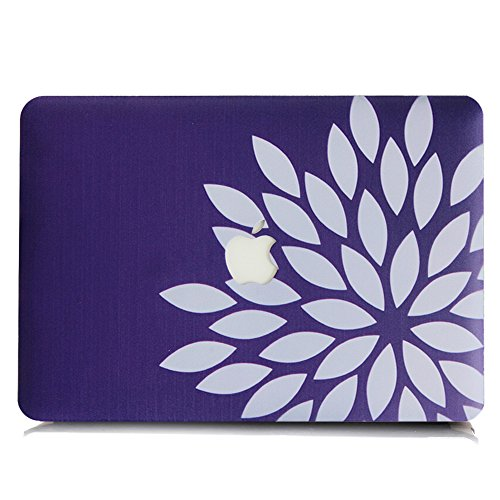 2016 Macbook Pro 15.4 Inch Case and Keyboard Cover,SUNWAY Ultra Thin Beautiful Floral Hard Case Cover for 2016 Macbook Pro 15.4 Inch with Touch Bar(A1707) - Purple Diamond (Diamond Touch Keyboard)