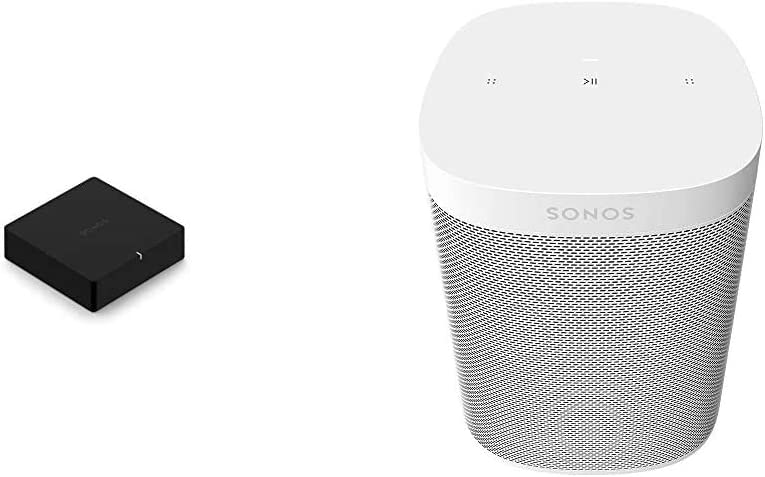 Sonos Port - The Versatile Streaming Component for Your Stereo or Receiver & ​Sonos One SL - Microphone-Free Smart Speaker – White
