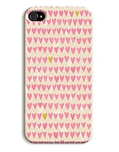 Handdrawn Pastel Pink Hearts Case for your iPhone 4/4s
