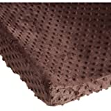 Carters Super Soft Dot Changing Pad Cover, Chocolate, Health Care Stuffs