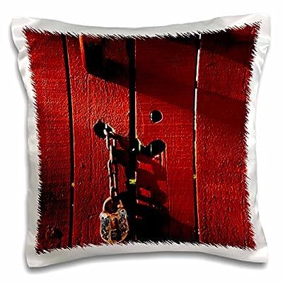 3dRose Danita Delimont - Farms - Red farm door, Kentucky Horse Park, Kentucky - US18 AJE0267 - Adam Jones - 16x16 inch Pillow Case (pc_90355_1)