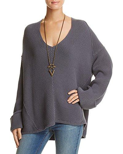 New Free People Women's La Brea V-Neck Sweater V-Neck Cotton - Free Brea