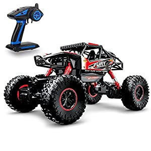 Geekper Electric RC Car - Offroad Remote Control Cars - RTR RC Buggy RC Monster Truck 1:16 4WD 2.4Ghz High Speed with 1 Rechargeable Battery ( Red )