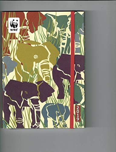 WWF Elephants Academic Planner Calendar 2019 Flexible Cover Daily Agenda (August 2018 - December 2019) 5.75