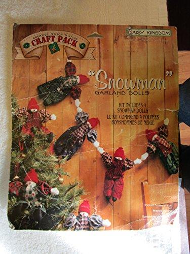 Snowman Garland Dolls Christmas Daisy Kingdom Craft - Kingdom Daisy Fabric