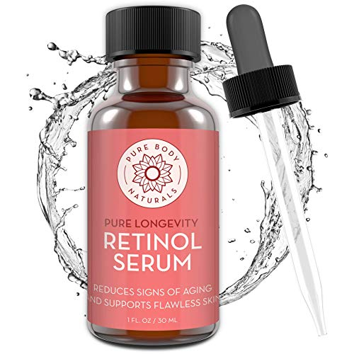 Retinol Face Serum by Pure Body Naturals - Retinol Serum with Witch Hazel, Myrtle Oil, and Ginseng - Age-Defying Wrinkle Cream and Dark Spot Corrector for Eye, Skin, and Face Wrinkles - 1 Fl Oz (Pure Body Naturals Dead Sea Mask Review)