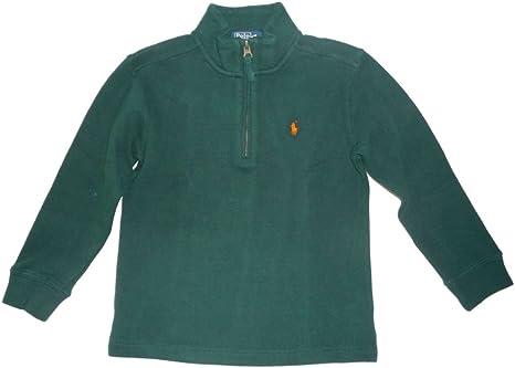 Ralph Lauren de Polo Zip Sudadera para niños color verde oscuro ...