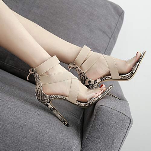 À Modaworld Chaussures Bride Été Talon Sandales Femme Kaki Sexy High ovedose Argent Toe Transparentes Chic Heels Peep Cheville XBnwXg
