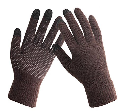 HINDAWI Winter Gloves for Women Touch Screen Ski Snow Knit Gloves Outdoor Mittens