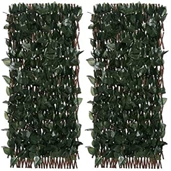 Amazon.com : Windscreen4less Artificial Leaf Faux Ivy ...