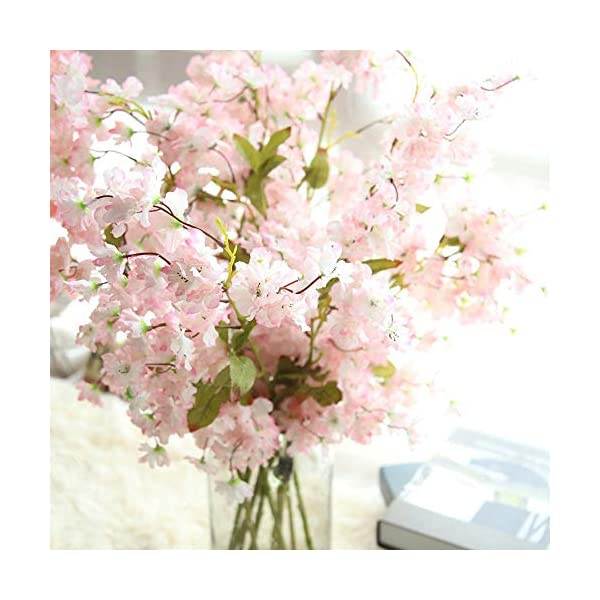 MARJON FlowersArtificial Fake Cherry Blossom Silk Flower Bridal Hydrangea Home Garden Decor Home Decorative Home Decor