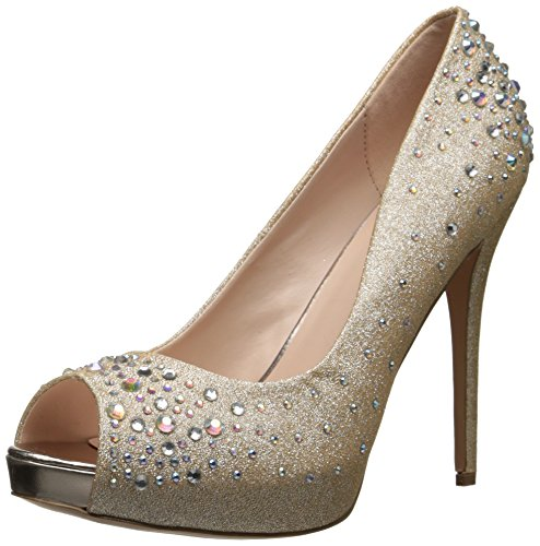 Fabulicious HEIRESS-22R Nude Shimmering Fabric UK 6 (EU 39 )