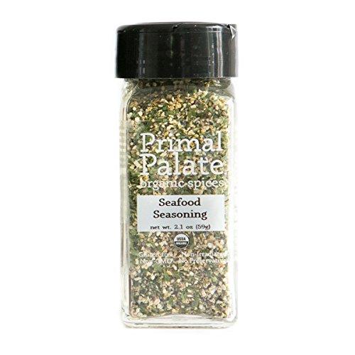 Primal Palate Organic Spices Seafood Seasoning, Certified Organic, 2.1 oz Bottle