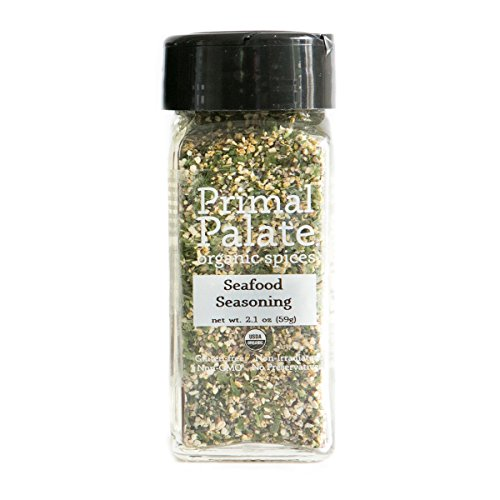 Organic Certified Spice (Primal Palate Organic Spices Seafood Seasoning, Certified Organic, 2.1 oz Bottle)