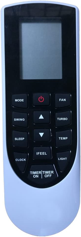 Replacement for Gree Air Conditioner Remote Control Model Number: YAN1F1F YAN1F1 Works for LIVS12HP115V1AH LIVS12HP230V1AH LIVS18HP230V1AH LIVS24HP230V1AH LIVS30HP230V1AH LIVS36HP230V1AH
