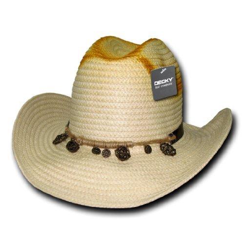 DECKY Inc Santa Fe Paper Braid Summer Cowboy Hats - Santa Malls Fe
