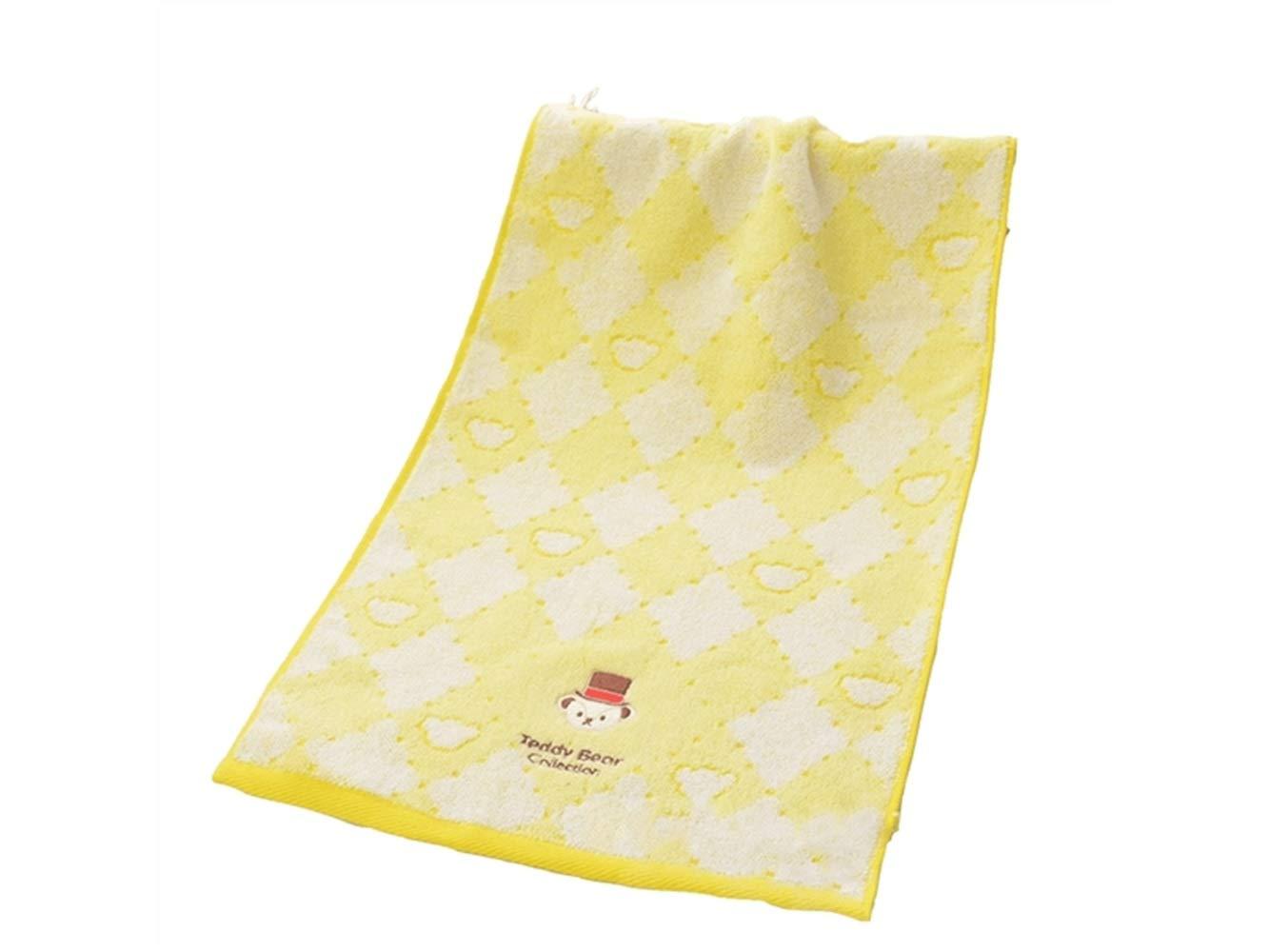 Toalla de algodón bordado para adultos con diseño de dibujos animados sonrientes, toalla de baño para pareja (amarillo): Amazon.es: Bebé