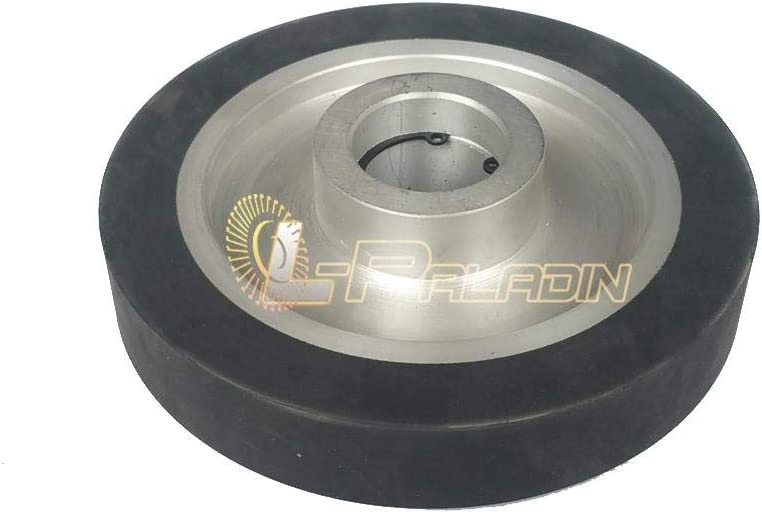 150 * 25mm Flat Rubber Contact Wheel Belt Grinder Parts Sanding Belt Set,B 12.7mm Installed For 6202 Bearing