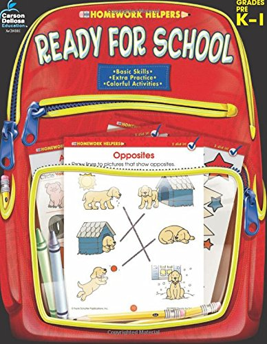 Ready for School, Grades PK - 1 (Homework Helper): Frank Schaffer ...