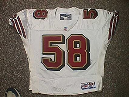 reputable site bd73d 1acd3 Player #58 San Francisco 49ers 1996 Game Worn Jersey at ...