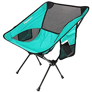 Lightweight Folding Camping/Beach Chair,Fbsport Compact Heavy Duty (Supports 330 lbs)Portable Chairs for Beach, Camp, Backpacking, Outdoor Festivals,Includes Wide Feet