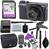 Canon Powershot G9 X Mark II Point & Shoot Digital Camera Bundle w/ Tripod Hand Grip , 64GB SD Memory , Case and More (Black)