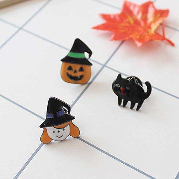 AILUOR Halloween /émail Citrouille Pins Broche dr/ôle Mignon Strass Chapeau Sorci/ère Pin Cadeau Bijoux