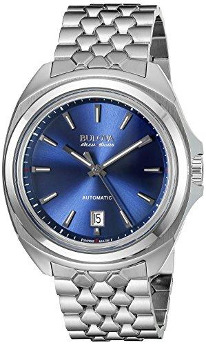 Bulova Men's 63B186 Analog Display Automatic Self Wind Silver Watch