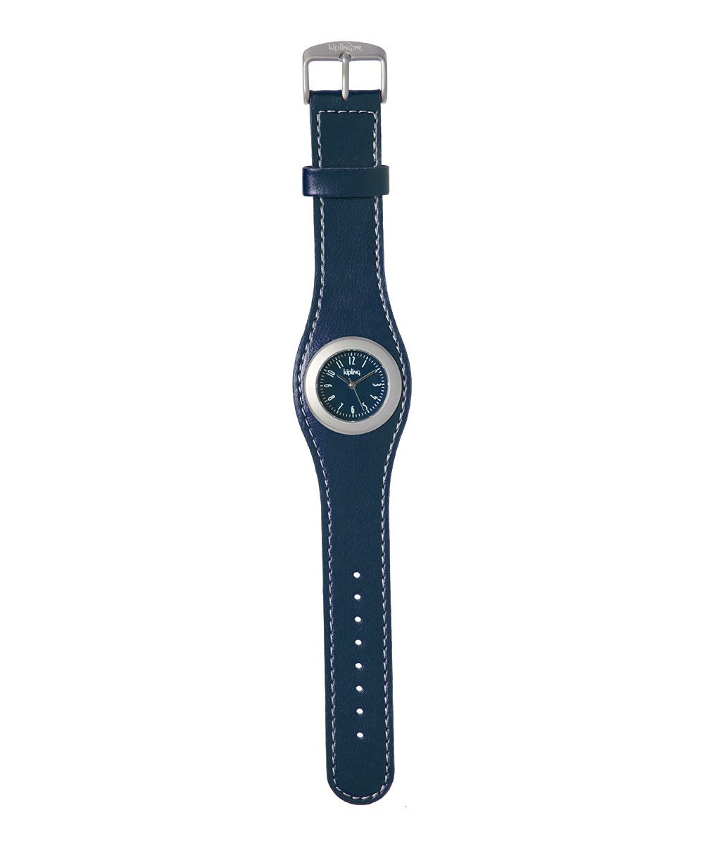Kipling Kids Blue Leather-Strap Quartz Watch