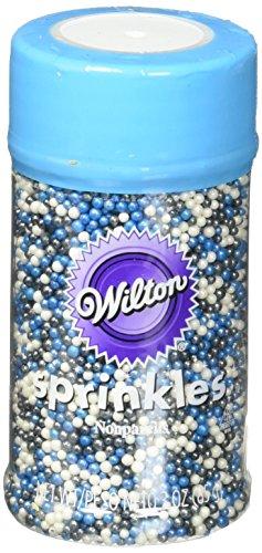 Wilton Blue Nonpareils Sprinkles Mix