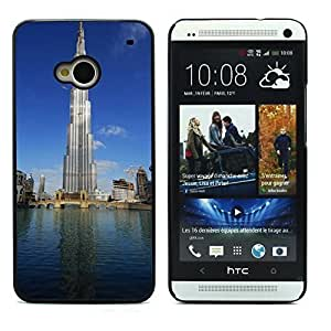 Graphic4You Burj Khalifa Skyscraper Dubai Postcard Design Hard Case Cover for HTC One (M7)