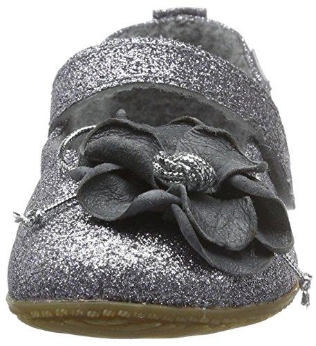 Living Kitzbühel Mädchen Ballerina Aus Glitzerstoff mit Geschlossene Ballerinas Silber (Silber 980)