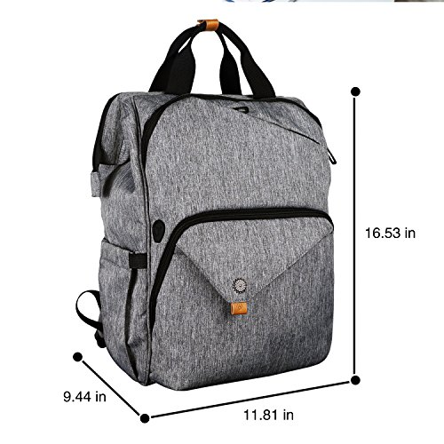 Hap Tim Laptop Backpack 15.6/14/13.3 Inch Laptop Bag Travel Backpack for Women/Men Waterproof School Computer Bag Large Capacity Bookbag for College/Travel/Business (7651US-G) by Hap Tim (Image #7)