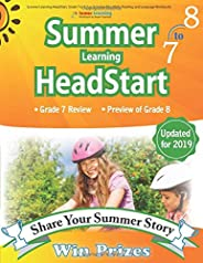 Summer Learning HeadStart, Grade 7 to 8: Fun Activities Plus Math, Reading, and Language Workbooks: Bridge to Success with C