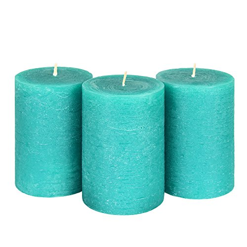 """Candle Atelier Turquoise Sea 3"""" x 4.5"""" Handmade Pillar Candl"""
