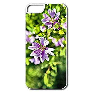 IPhone 5/5S Shell, Violet Summer Flowers White Cases For IPhone 5S