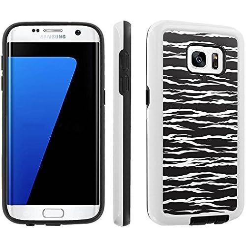 [Galaxy S7] [5.1 Screen] Armor Case [Skinguardz] [White/Black] Shock Absorbent Hybrid - [Black Zebra] for Samsung Galaxy S7 / GS7 Sales