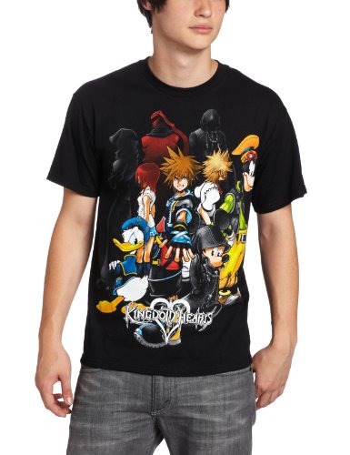 Disney-Mens-Kingdom-Hearts-Hearts-Group-T-Shirt