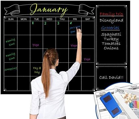 AU STOCK Month Plan Calendar Chalkboard Blackboard Vinyl Wall Sticker Family Jod