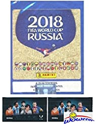 2018 Panini FIFA World Cup Russia MASSIVE 50 Pack Factory Sealed Sticker Box with 250 Stickers Plus BONUS (2) LIONEL MESSI Card Packs! Look for Top Stars Ronaldo, Messi, Neymar,Neuer & More! WOWZZER!